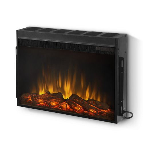 real flame 4093 slim line electric firebox for wall