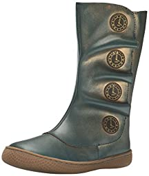 Livie & Luca Tiempo Youth Tall Boot (Little Kid), Blue/Gold, 2 M US Little Kid