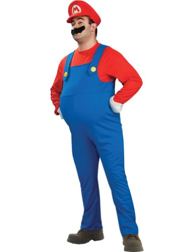Super Mario Plus Adult Deluxe Costume