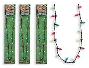Lotsa Lites Christmas Holiday Flashing Light Bulbs Necklace (sold individually) [Toys & Games] Holiday Toy
