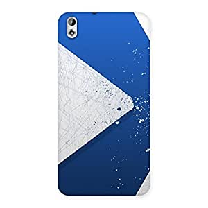 Gorgeous Blue Paint Work Job Back Case Cover for HTC Desire 816s