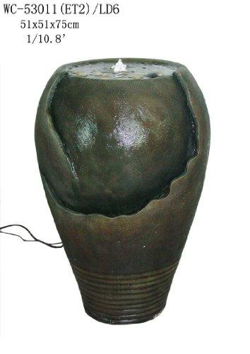 Garden Patio Indoor Outdoor Vase Urn Sculpture Water Fountain with Led light