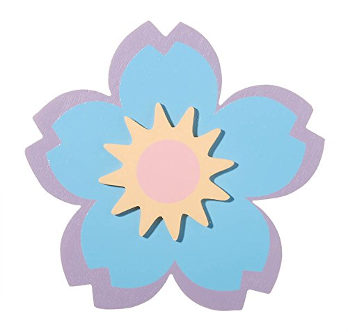Darice 9189-47 Painted Wood Large Flower Shape Cutout, 5mm
