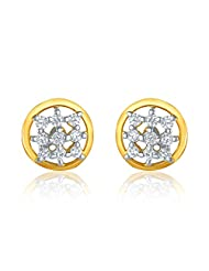 Mahi Gold Plated Contemporary Classic Earrings With CZ For Women ER1109106G
