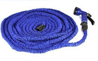 GenLed 75ft Expanding Hose Magic Flexible Expandable Garden Water Hose with 8 Functions Spray Nozzle, Hose hook including US Seller (Blue) (Hot Water Sprayer compare prices)