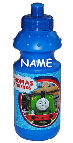 Trinkflasche-Thomas-and-friends-Flasche-550-ml-mit-Wunschnamen-auslaufsicher-Kunststoff-blau-und-Freunde-Lokomotive