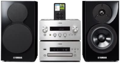 Yamaha MCR-840 Mini-chaîne DVD avec Station d'accueil pour iPod 2 x 65 W HDMI USB Argent