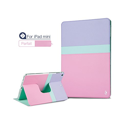 Pioneer Tech® 360 Rotating Stand Smart Cover Ipad Mini 1 Ipad Mini2 Girly Tiffany Case (Parfait)