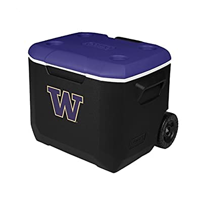 Coleman Company Washington Huskies Performance Cooler, 60 quart, Black/Purple