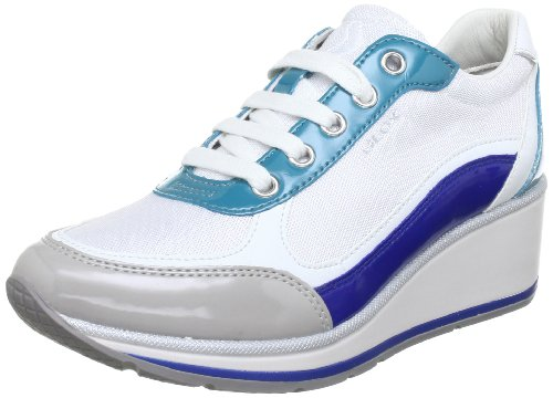 Geox D MAXINE C Low Top Women blue Blau (WHITE/ROYAL C0293) Size: 7 (41 EU)
