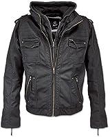 Brandit Black Rock Vintage Veste en cuir pour homme
