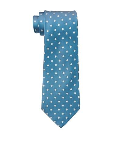 Salvatore Ferragamo Men's Mini Flower Tie, Turquoise/White As You See
