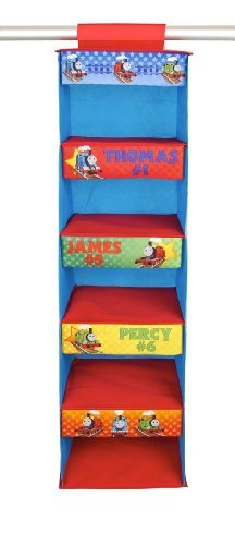 Thomas & Friends Collapsible 5 Shelf Hanging Closet Organizer
