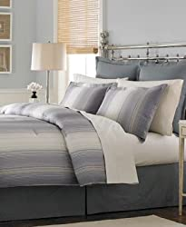 "Martha Stewart Collection ""Ombre Pinstripe"" 6-Piece Comforter Set, Full"