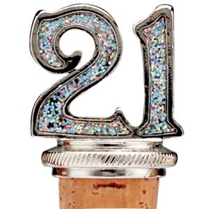 Celebration 21st Birthday Bottle Stopper
