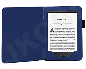 """Jkobi (TM) Royal Leather Tablet Book Flip Case Cover For All-New Kindle Paperwhite 6"""" / Amazon Kindle Paperwhite -Blue"""