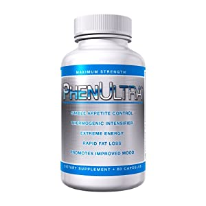 Phenultra Diet Pills Maximum Strength Weight Loss 60 Capsules 30 Day Supply Appetite Suppressant Fat Burner And Energy Booster by Global Alliance Corp