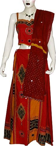 Lehenga Choli Skirt Top Dress for Party Womens Clothes in India Size: US 2 (lc438)