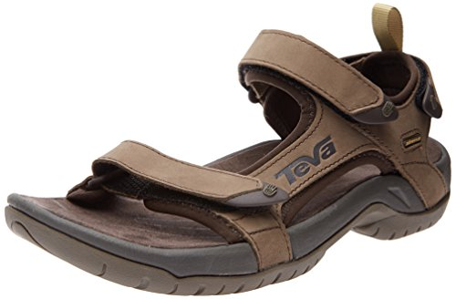 Teva Men's Tanza Leather Sandal,Brown,7.5 M US