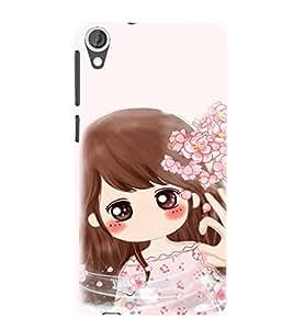 EPICCASE Dream Gril Mobile Back Case Cover For HTC Desire 820 (Designer Case)