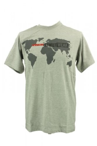 Vision Street Wear Vision Street Wear World Vision T-Shirt Tee Skateboarding Skate Men grau in Gr. M - T-Shirts