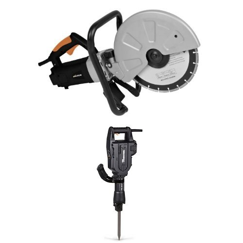 Evolution DISCCUT1 12-Inch Disc Cutter with TR Industrial TR89305 60 Joules Electric Jack Hammer (Tamaño: Disc cutter w/jack hammer)