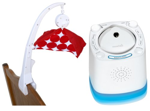 Crib Mobile Attachment Clamp With Nursery Sound Machine & Projector
