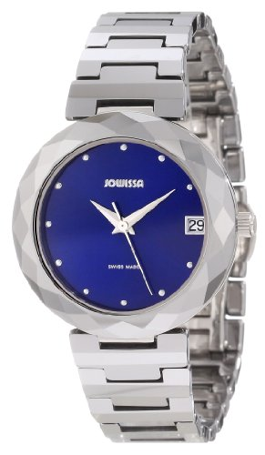 Jowissa Soletta Women's Quartz Watch with Blue Dial Analogue Display and Silver Tungsten Bracelet J1.175.M