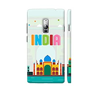 Colorpur India Multicolor Monuments On Soft Green Artwork On OnePlus 2 Cover (Designer Mobile Back Case) | Artist: Designer Chennai