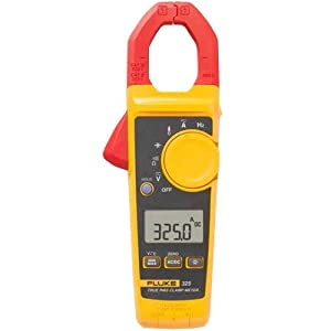 Fluke 325 40/400A AC/DC, 600V AC/DC TRMS Clamp Meter w/ Frequency, Temp, & Capacitance Measurements images
