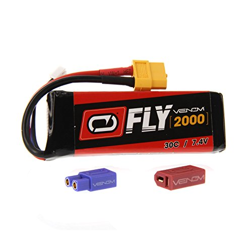 Venom Fly 30C 2S 2000mAh 7.4V LiPo Battery with Universal 2.0 Plug