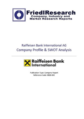 raiffeisen-bank-international-ag-swot-analysis-company-report-english-edition
