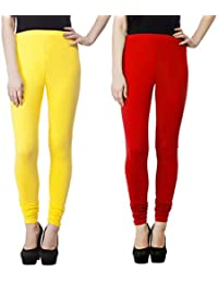 SPK Impact Women`s RUBY-CUT YELLOW-RED Cotton Lycra Fitt Leggings