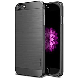 iPhone 6S Plus Case, OBLIQ [Slim Meta] [Titanium Space Gray] Premium Slim Fit Thin Armor All-Around Shock Resistant Polycarbonate Metallic Case for Apple iPhone 6S Plus (2015) & iPhone 6 Plus (2014)