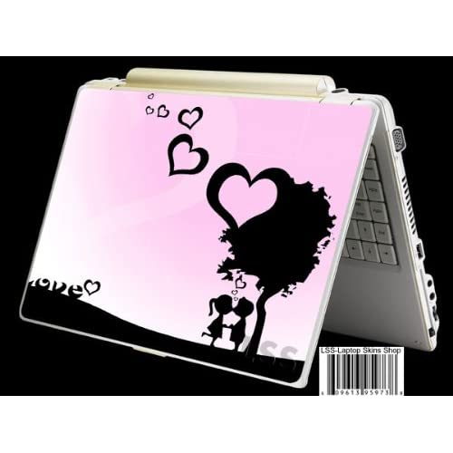 Laptop Skin Shop Laptop Notebook Skin Sticker Cover Art Decal Fits 13.3 14 15.6 16 HP Dell Lenovo Asus Compaq (Free 2 Wrist Pad Included) Love Night Heart
