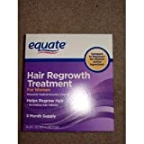 Equate - Hair Regrowth Treatment for Women with Minoxidil 2%, 3 Month Supply( 3 - 2oz bottles ) (Tamaño: 3 month supply)