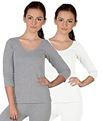 Selfcare Set Of 2 Girls Full Sleeve Thermal Top