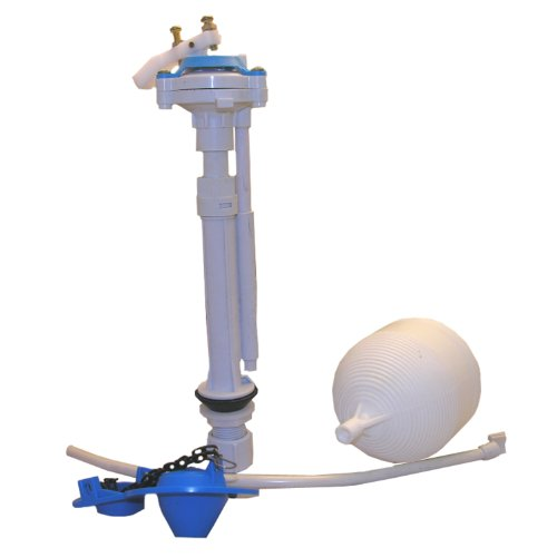 Lasco 04-4041 Toilet Ballcock with Anti-Syphon Plastic Adjustable 9-Inch-13-Inch Fill Valve Kit with Float, Float Rod, Refill Tube, Flapper and Nut