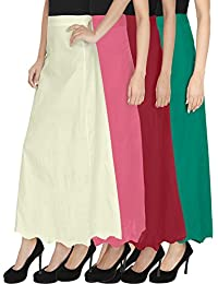 Ngt Pure Cotton Red, White, Green And Pink Petticoat/Underskirt For Womens.