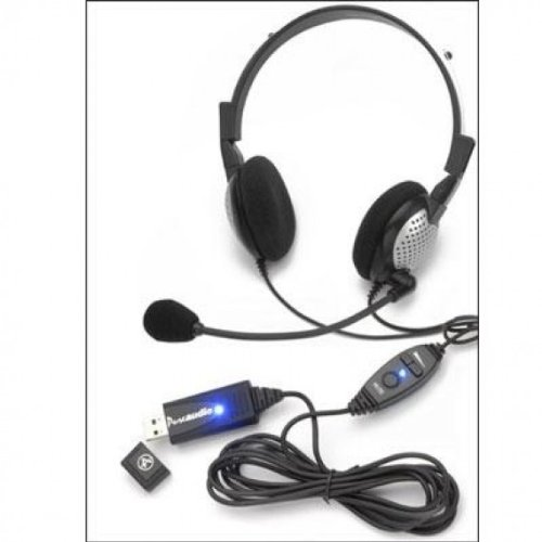 Nc185Vmusb Nc185Vmusb Andrea Electronics Pureaudio Nc-185Vm Usb Headset - Stereo - Usb - Wired - 32 Ohm - 50 Hz - 20 Khz - Over-The-Head - Binaural - 60 Db Snr - Semi-Open - 8 Ft Cable - Noise Cancelling Microphoneshow More + - P-C1-1022600-50