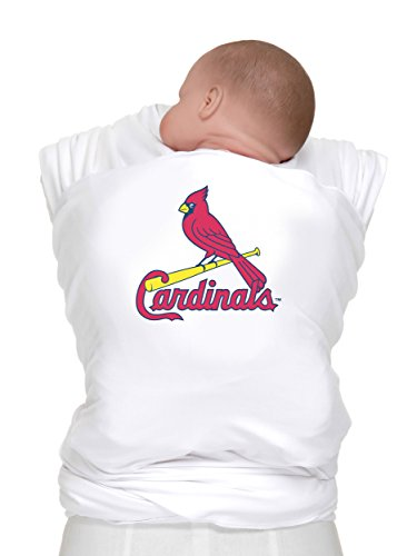 Moby Wrap Mlb Edition Baby Carrier, St. Louis Cardinals, White front-1031736