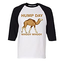 HUMP DAY whoo whoo Raglan Baseball T-Shirt