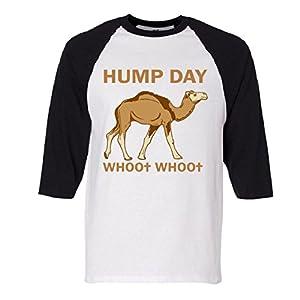HUMP DAY whoo whoo Raglan Baseball T-Shirt
