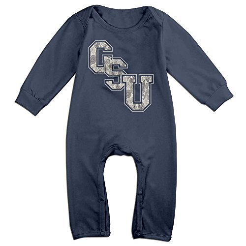 [LCYCAD Newborn Babys Boy's & Girl's Georgia Southern Eagles GSU Long Sleeve Bodysuit Outfits For 6-24 Months Navy Size 12] (Costume Design Online Classes)