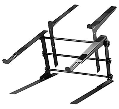 Pyle PLPTS38 Universal Dual Device Laptop Stand, Sound Equipment DJ Mixing Workstation by Sound Around