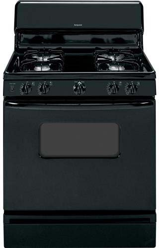 Hotpoint-RGB526DEHBB-30-Black-Gas-Sealed-Burner-Range