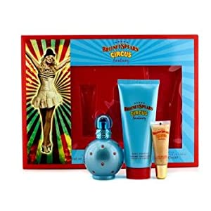 Circus Fantasy Britney Spears Gift Set for Women (Eau De Parfum Spray 50 ml, Body Souffle 100 ml and Lip Gloss)