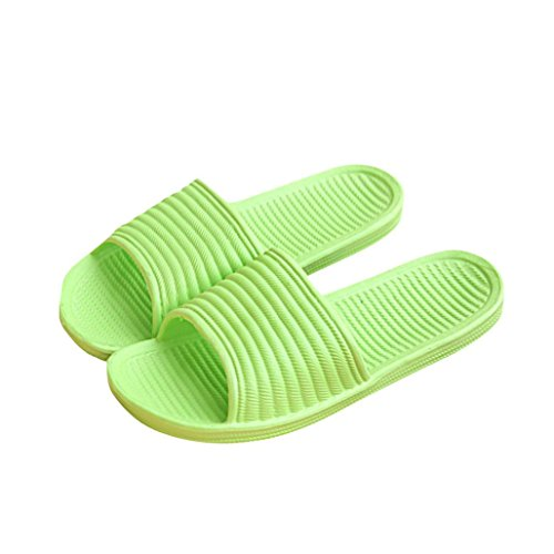 Tenworld Women's Anti-Slip Shoes Shower Slipper Comfort Slip On Slide Sandals (9, Green) (Display Cases With Curve Glass compare prices)