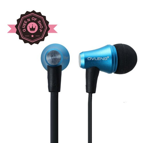 Queen I620 Universal 3.5Mm In-Ear Stereo Headset W/ On-Off & Mic Blue