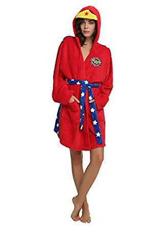Amazon.com: Wonder Woman Adult Red Hooded Costume Robe (Small/Medium
